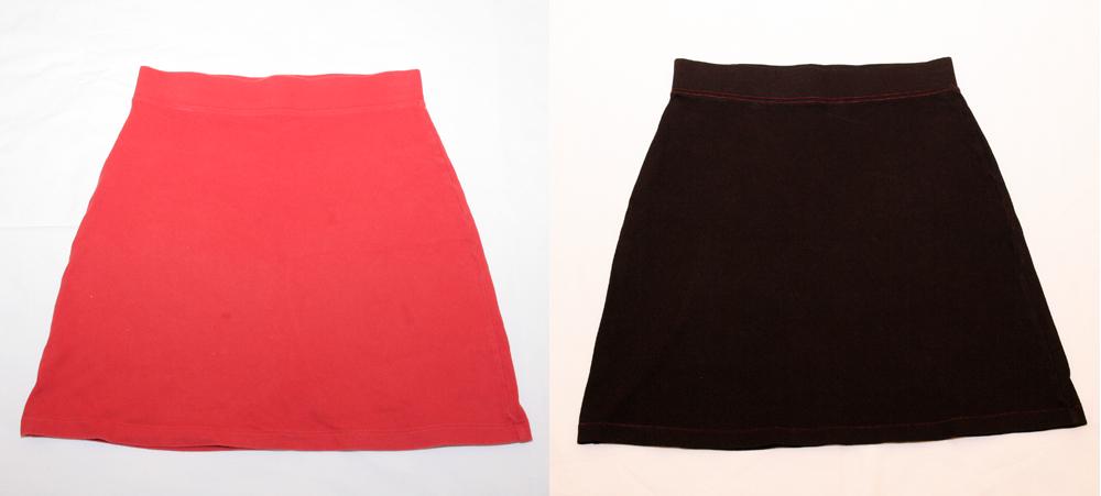 Falda roja >>> Falda negra