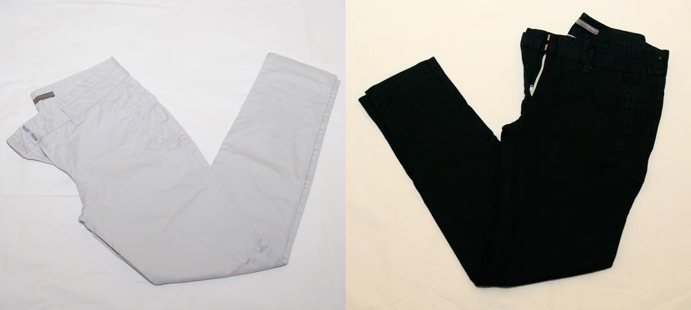 Pantalón gris claro >>> Pantalón negro