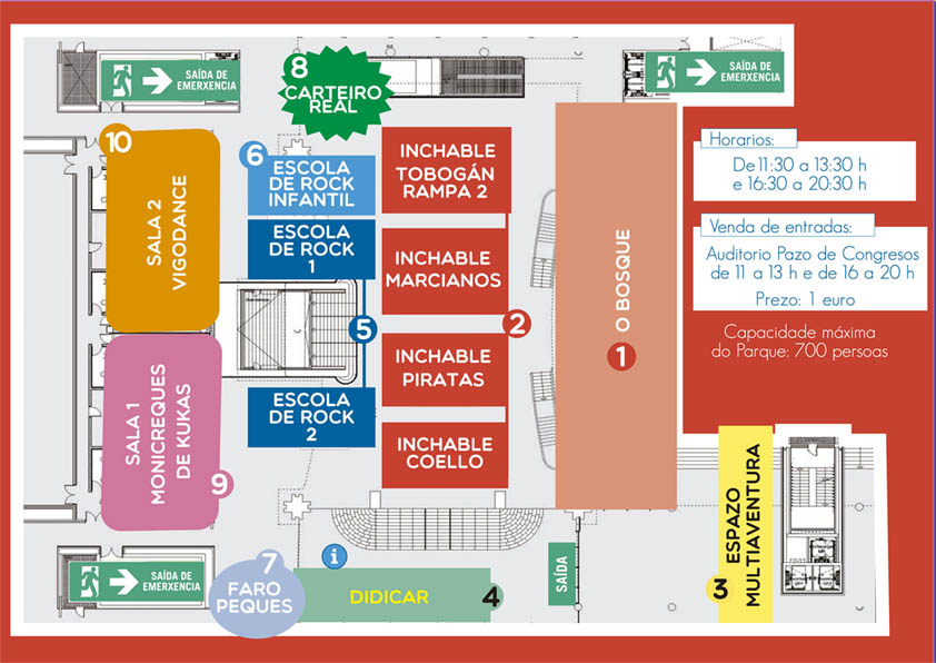 Parque Infantil de Nadal CONCELLO DE VIGO mapa