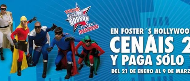 fosters hollywood cheque gorrón 2014