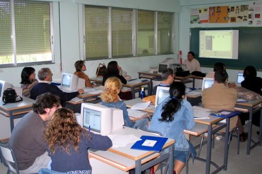 formación aula ordenadores
