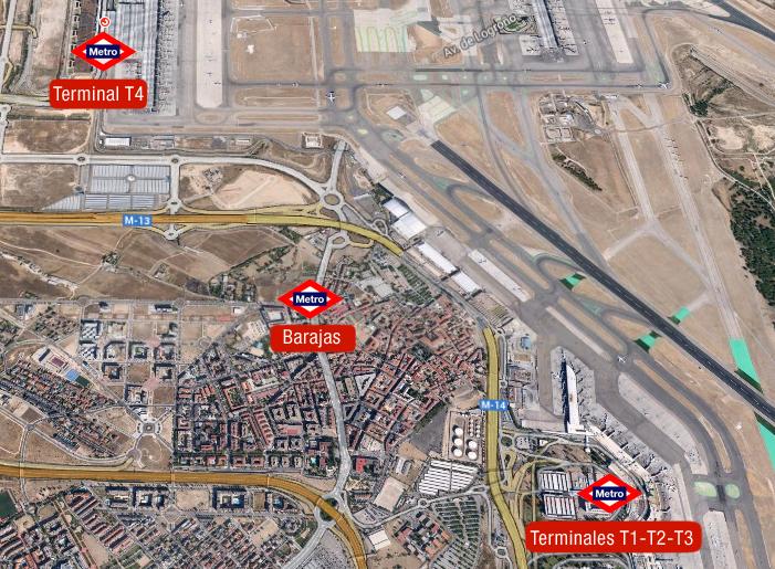 mapa metro aeropuerto barajas