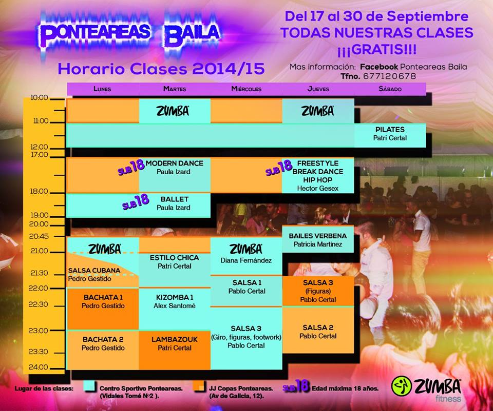 Clases gratuitas de baile @ Centro Sportivo, Ponteareas | Puenteareas | Galicia | España