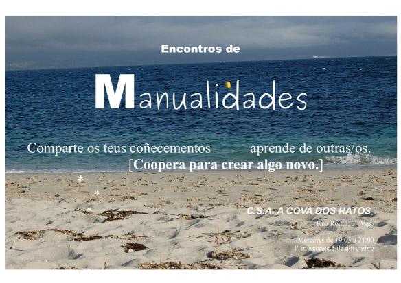 Encontros de manualidades @ A Cova dos Ratos, Vigo | Vigo | Galicia | España