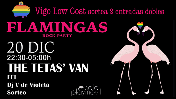 flamingas party sorteo vigo low cost