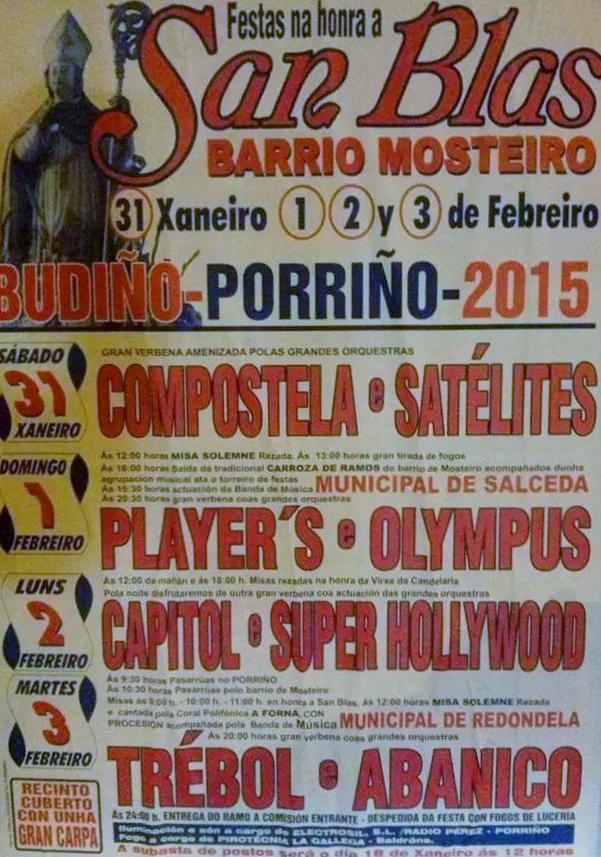 Festas na honra a San Blas @ Barrio Mosteiro (Budiño), Porriño | O Mosteiro | Galicia | España